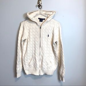 Ralph Lauren Sport hooded cable knitted sweater